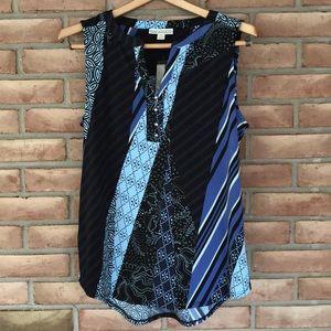 NWT Dana Buchman size M sleeveless, printed top